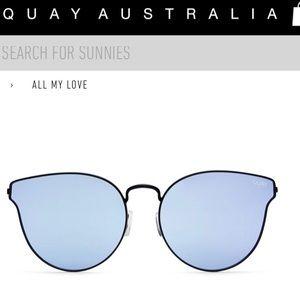 Quay Australia blue mirrored sunglasses